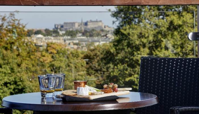 Castle view decking areas to enjoy summer evenings