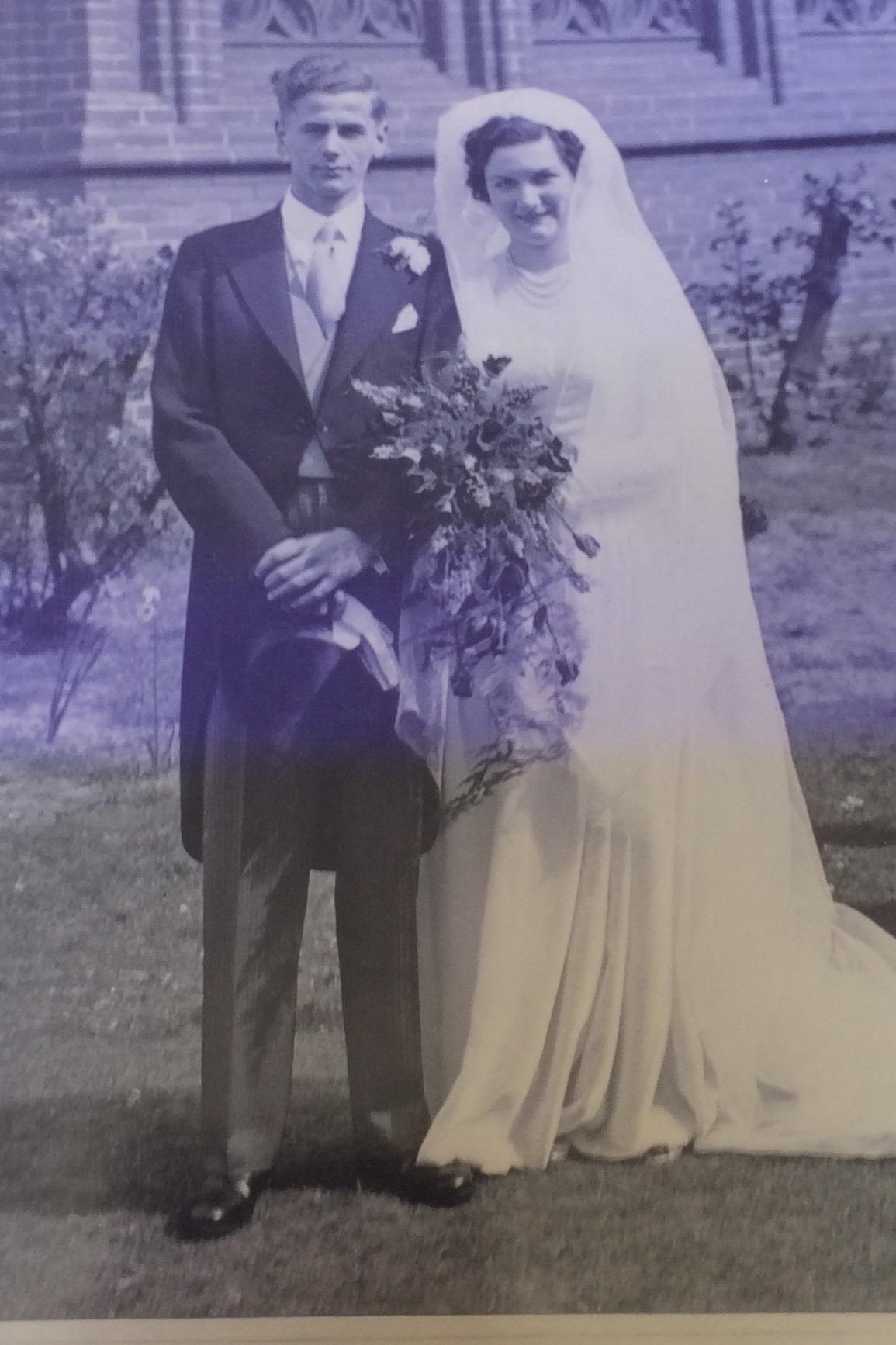 Margaret & Derwent on their Wedding Day