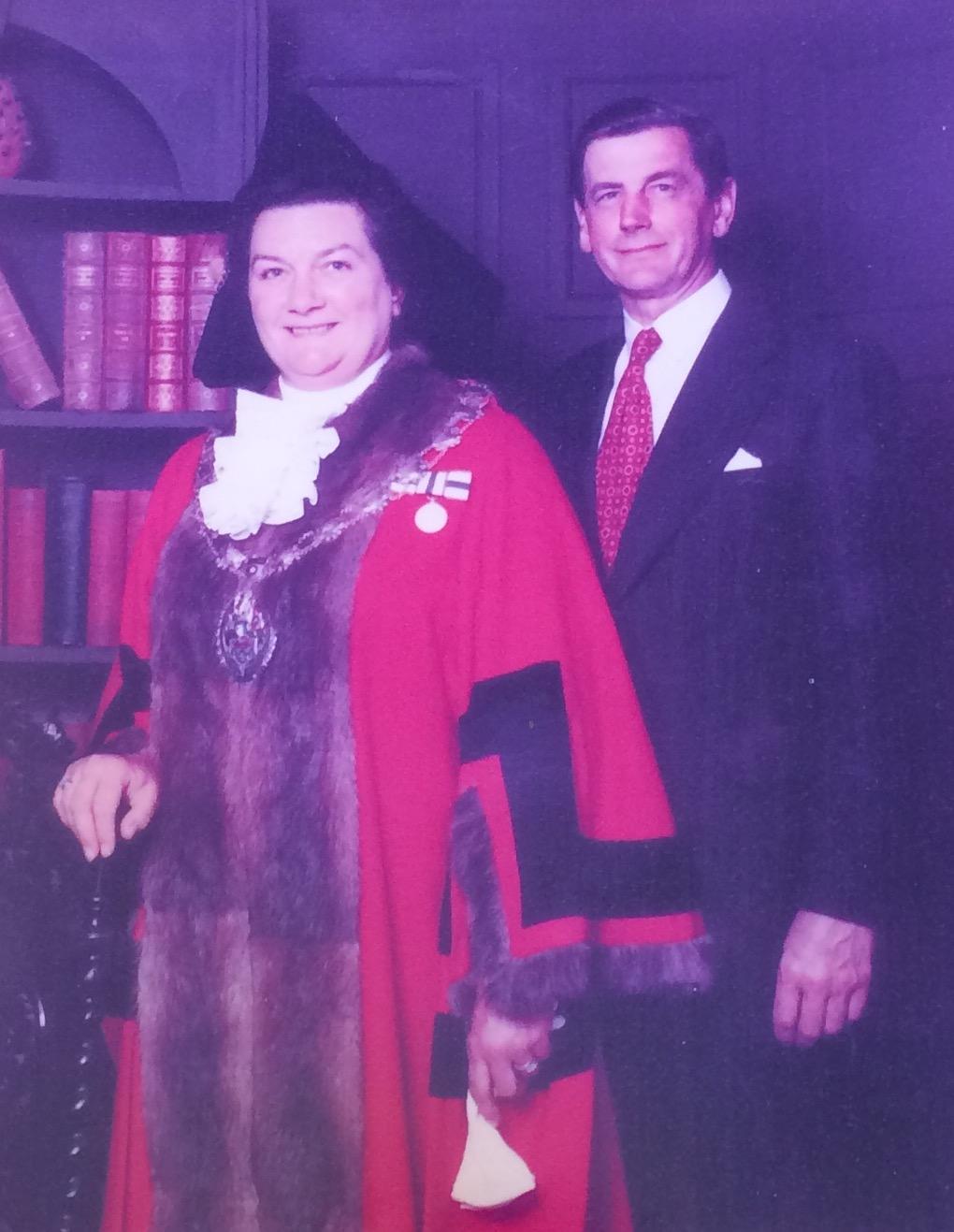 Mrs millican as Mayor of the High Peak