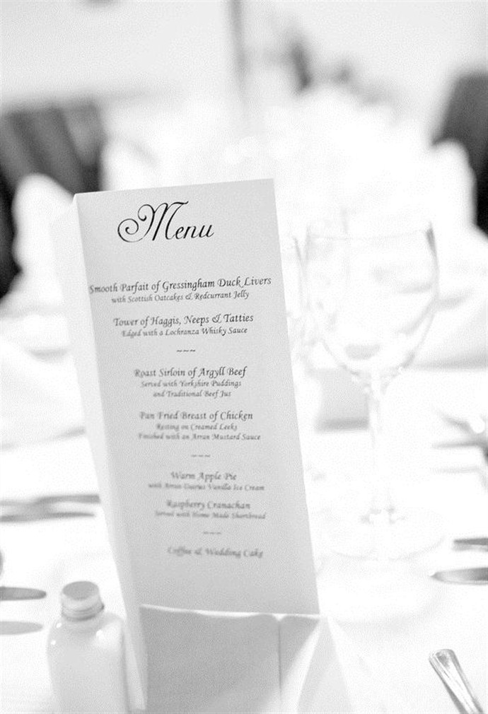 black white wedding menu_690x1010