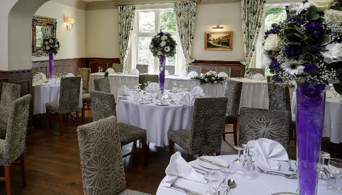rest wedding purple